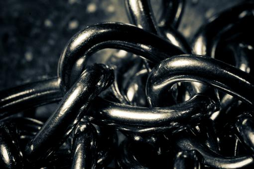 Free Stock Photo of Silver Chains Closeup