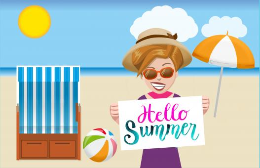 Free Stock Photo of Hello Summer
