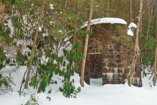 Free Stock Photo of Winter Lehigh Ruins
