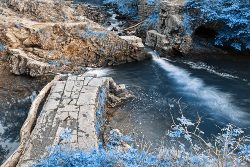 Free Stock Photo of Brecon Beacons River Ruins - Nuclear Winter