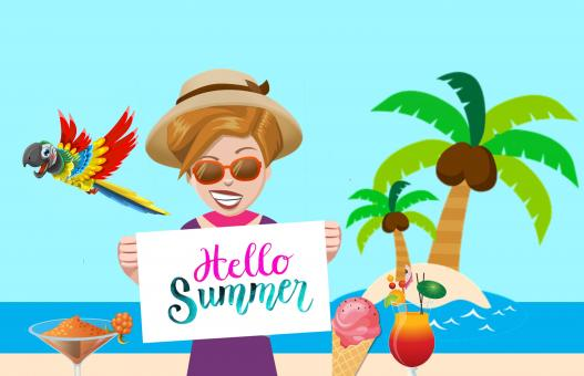 Free Stock Photo of Summer Vacation Illustration
