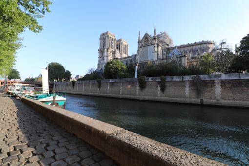 Free Stock Photo of View of Notre-Dame