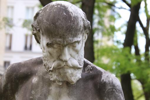Free Stock Photo of Old stone sculpture of bearded man
