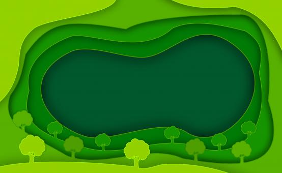 Free Stock Photo of Abstract Green Background and Trees - With Copyspace - Ecology
