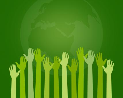 Free Stock Photo of Save the Planet - Concept with Extended Arms - Pledging Hands