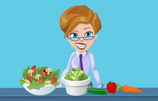 Free Stock Photo of Woman Making Salad