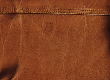 Free Stock Photo of Brown Leather with Seams