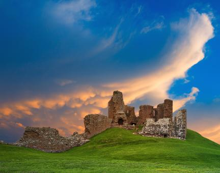 Free Stock Photo of Duffus Castle Sunset