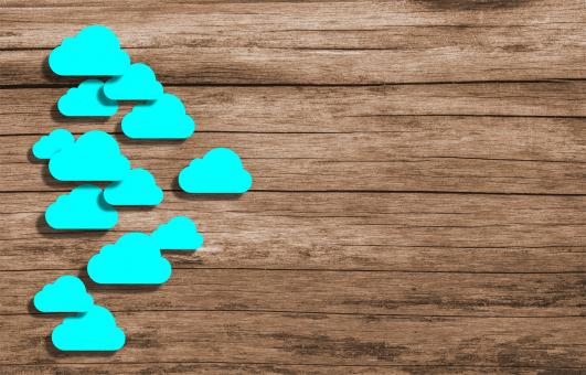 Free Stock Photo of Cloud Computing - Wooden Background