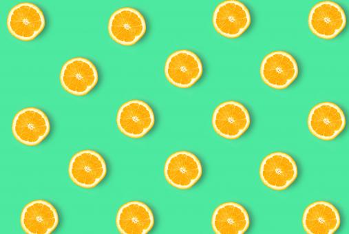 Free Stock Photo of Orange Slices - Abstract Pattern