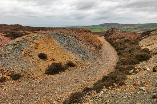 Free Stock Photo of Winding Parys Mountain Trail
