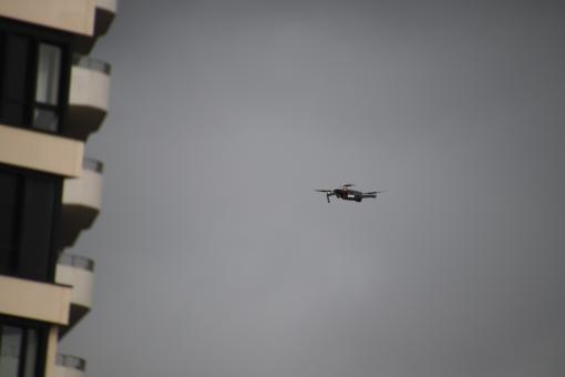 Free Stock Photo of Drone watching a building under construction