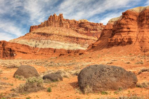Free Stock Photo of Capitol Reef Desert Castle