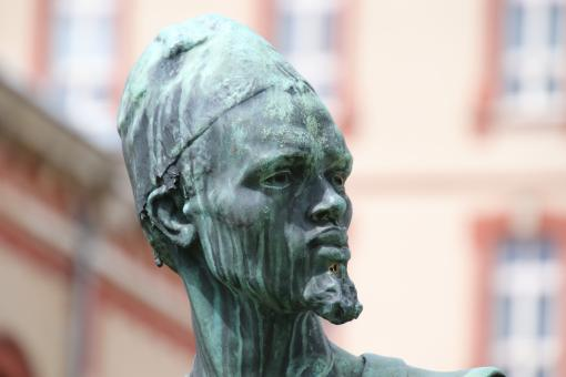 Free Stock Photo of Bronze Sculpture of Head