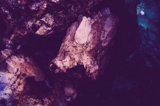 Free Stock Photo of Violet Rock Crystal Background