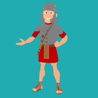 Free Stock Photo of Roman Soldier Character
