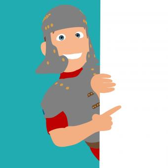 Free Stock Photo of Roman Soldier Behind Wall