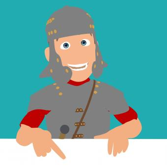 Free Stock Photo of Roman Soldier Cartoon