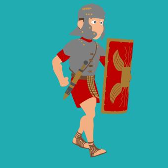 Free Stock Photo of Roman Soldier Illustration
