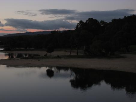 Free Stock Photo of After Sunset at Lysterfield Lake