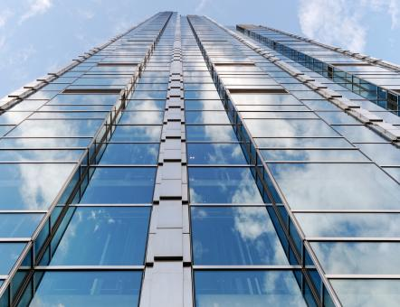 Free Stock Photo of Skyscraper Glass Facade