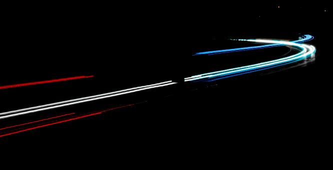 Free Stock Photo of Light trails of cars in the night
