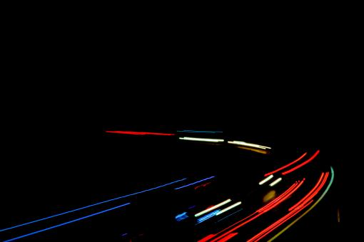 Free Stock Photo of Light Trails of Fast Cars at Night