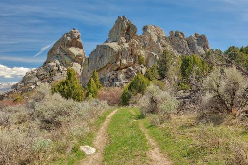 Free Stock Photo of Castle Rocks Trail