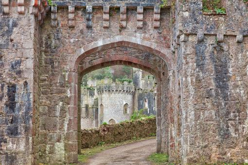Free Stock Photo of Gwrych Castle Portal