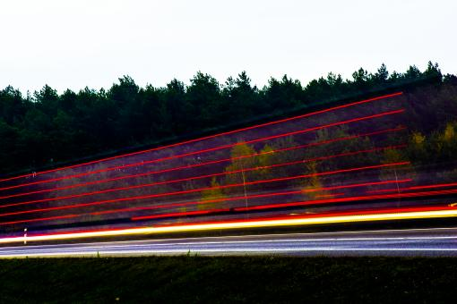 Free Stock Photo of Red Light Trails