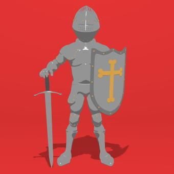 Free Stock Photo of Cartoon Knight Standing