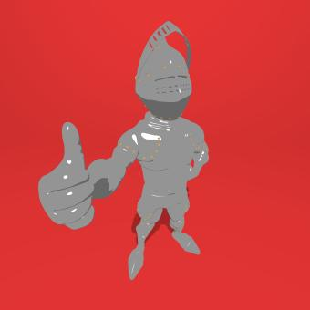 Free Stock Photo of Knight Giving Thumbs-up