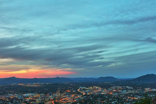 Free Stock Photo of Cloudy Roanoke Twilight
