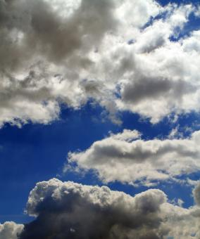 Free Stock Photo of Blue Sky and White Clouds