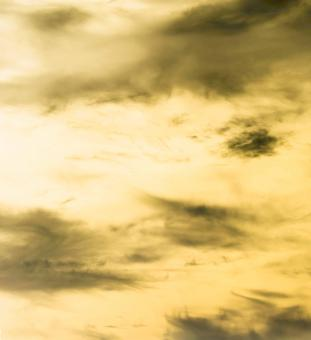 Free Stock Photo of Yellow sky, black clouds