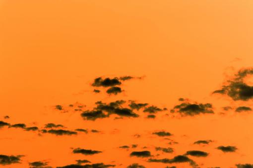 Free Stock Photo of Orange sky and black clouds background