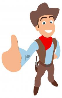 Free Stock Photo of Cowboy Thumbs up