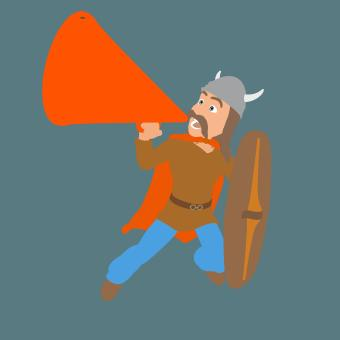 Free Stock Photo of Gaulois with Megaphone