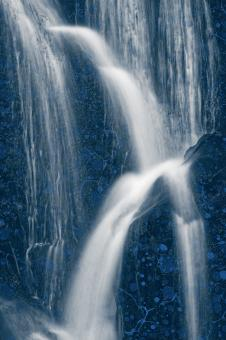 Free Stock Photo of Blue Marbled Waterfall