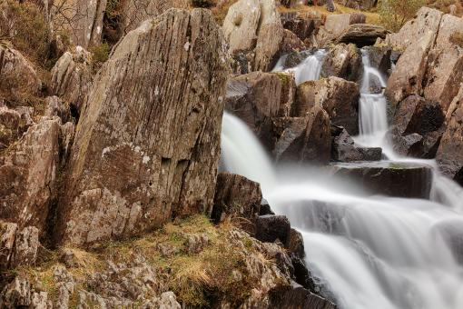 Free Stock Photo of Ogwen Tombstone Falls