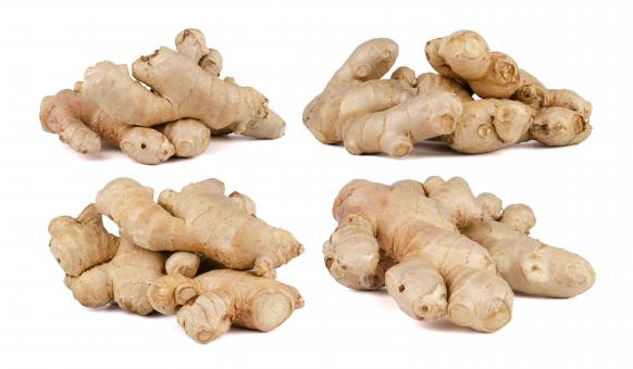 Free Stock Photo of Fresh Ginger Roots