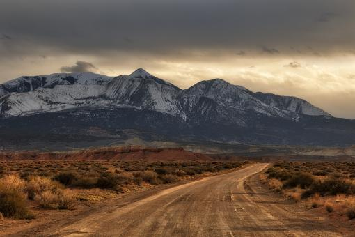 Free Stock Photo of Hanksville Country Road