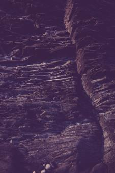 Free Stock Photo of Blue Layered Rock Formations
