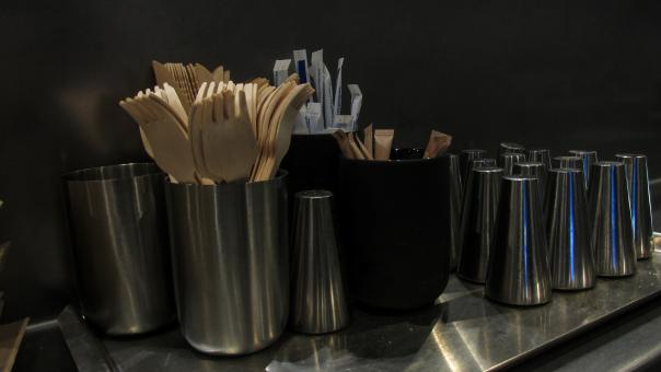 Free Stock Photo of Recyclable forks and utensils