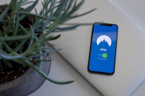 Free Stock Photo of VPN application on the phone