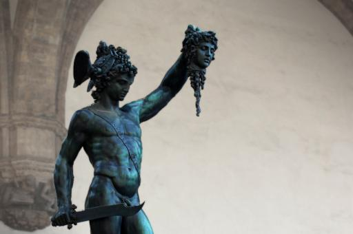 Free Stock Photo of Perseus with the Head of Medusa