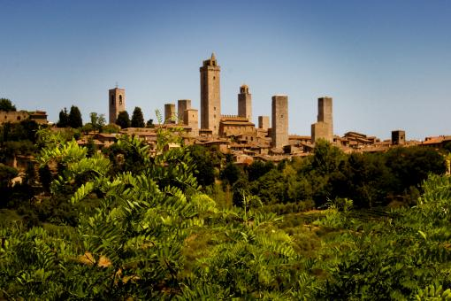 Free Stock Photo of San Gimignano - Walled Medieval Town - Tuscany - Italy