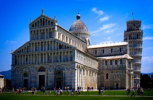 Free Stock Photo of Cathedral and Leaning Tower of Pisa