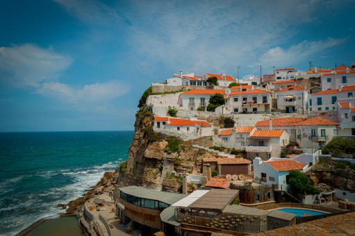 Free Stock Photo of Costal Village, Azenhas Do Mar