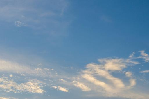 Free Stock Photo of Blue sky and white clouds background